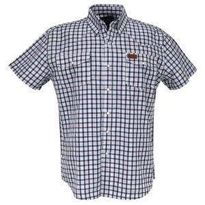 Outback Trading Western Snap Shirt S/S Blue Check